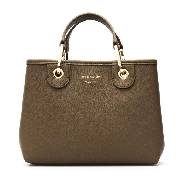 Brown tote bag with logoed shoulder strap                                                                                                             Emporio Armani Y3D166 back