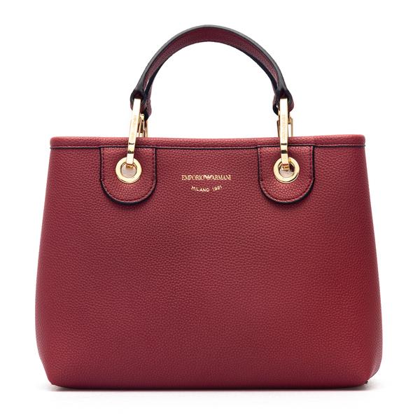 Small burgundy red handbag                                                                                                                            Emporio Armani Y3D166 back