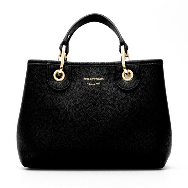 Black handbag with gold brand name                                                                                                                    Emporio Armani Y3D166 back