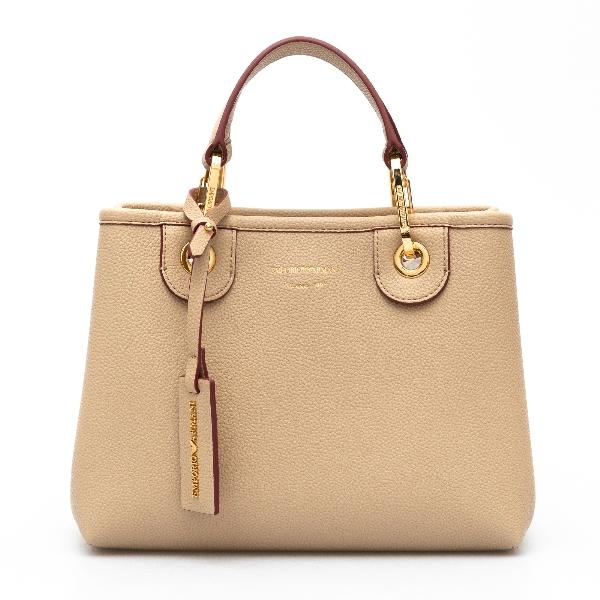 Small handbag in beige                                                                                                                                Emporio Armani Y3D166 back