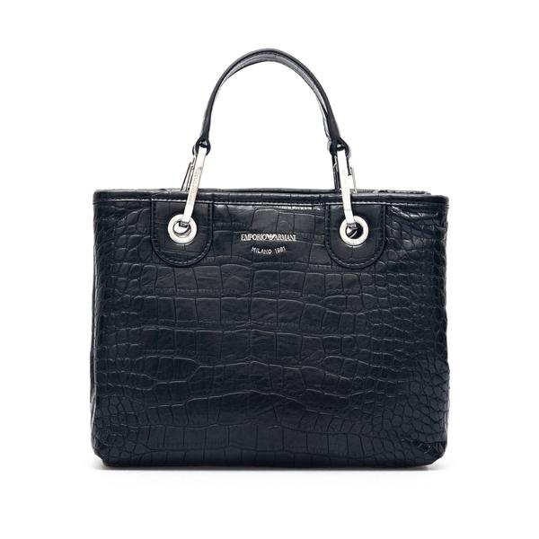 Handbag with crocodile print                                                                                                                          Emporio Armani Y3D166 back