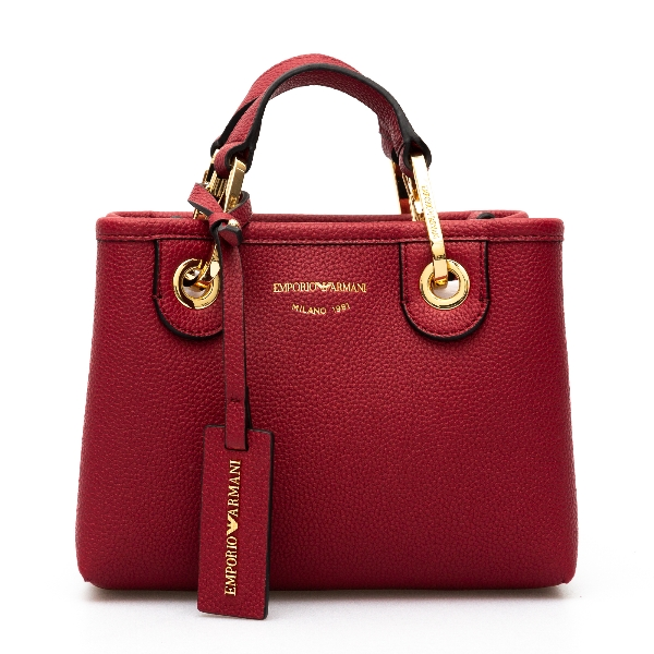 Red mini bag with logo                                                                                                                                Emporio Armani Y3D176 back