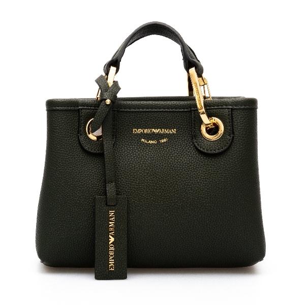 Mini bag in dark green                                                                                                                                Emporio Armani Y3D176 back