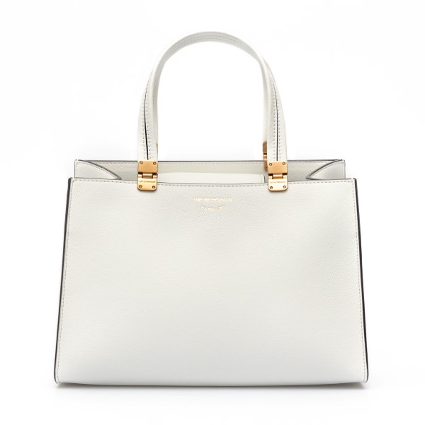 White tote bag with gold logo                                                                                                                         Emporio Armani Y3D198 back