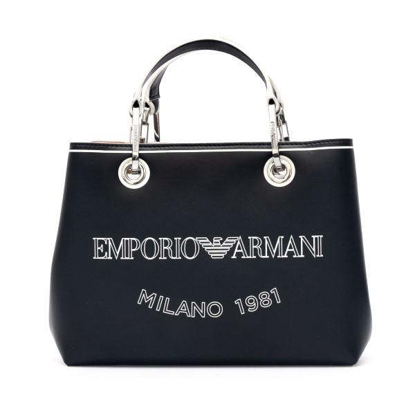 Black tote bag with logo                                                                                                                              Emporio Armani Y3D203 back