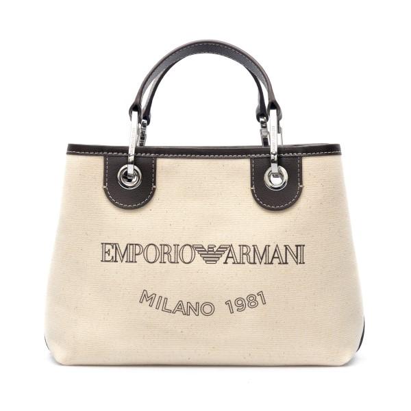 Borsa tote bianca con logo                                                                                                                            Emporio Armani Y3D205 retro