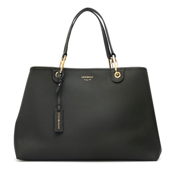 Large tote bag in dark green color                                                                                                                    Emporio Armani Y3D219 back