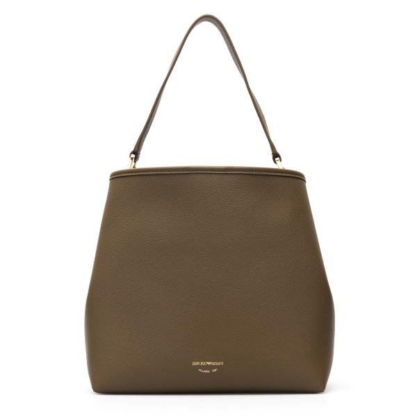 Brown shoulder bag with logo                                                                                                                          Emporio Armani Y3E168 back