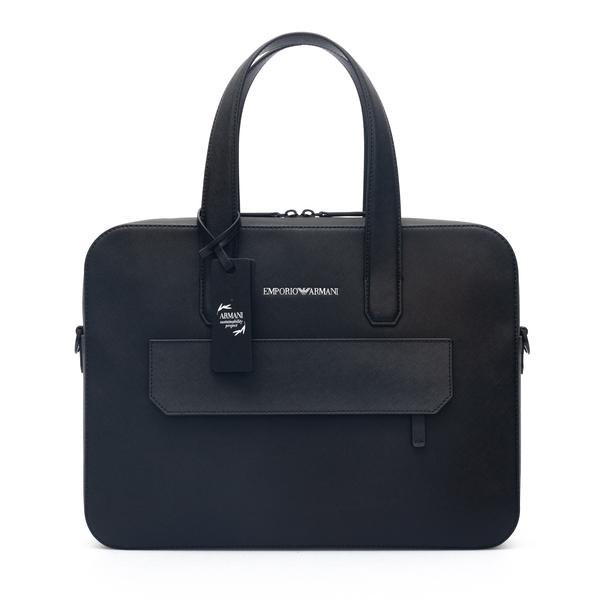 Leather work bag                                                                                                                                      Emporio Armani Y4P139 back