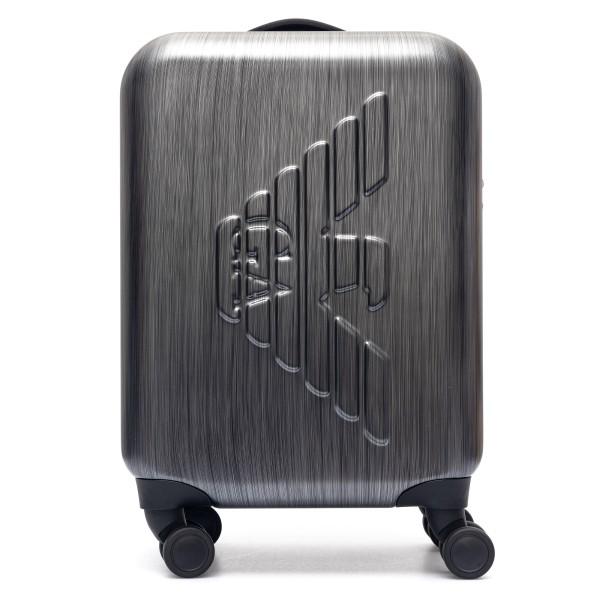 Trolley grigio metallizzato con logo                                                                                                                  Emporio Armani Y4Q093 retro