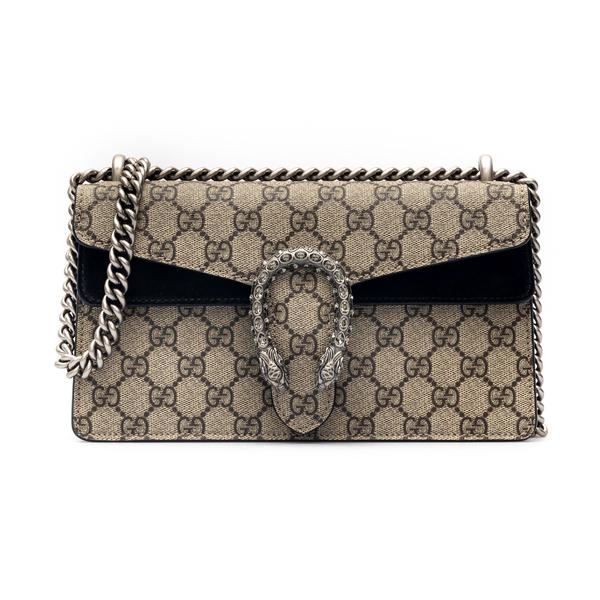 Beige shoulder bag with black details                                                                                                                 Gucci 499623 back