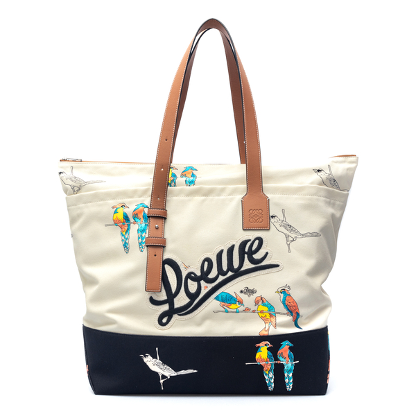 Two-tone tote bag with prints                                                                                                                         Loewe Paula's Ibiza B887J09X03 back