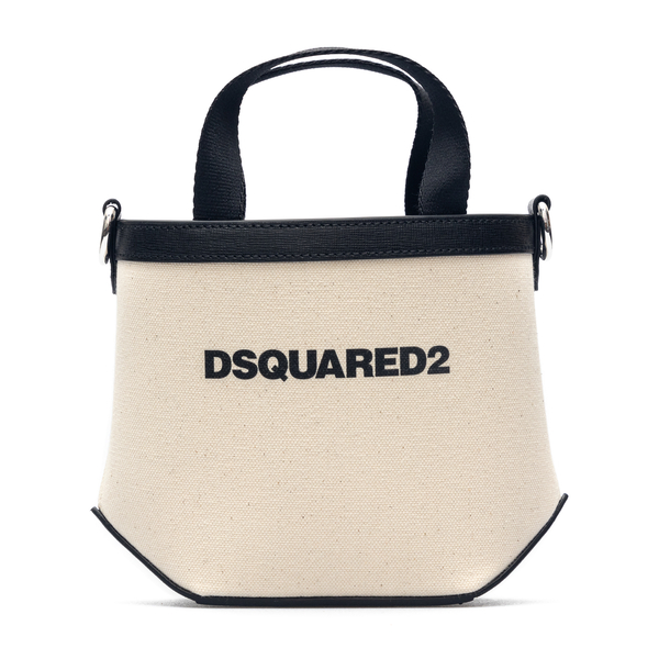 Small white tote bag with logo print                                                                                                                  Dsquared2 SPW0049 back