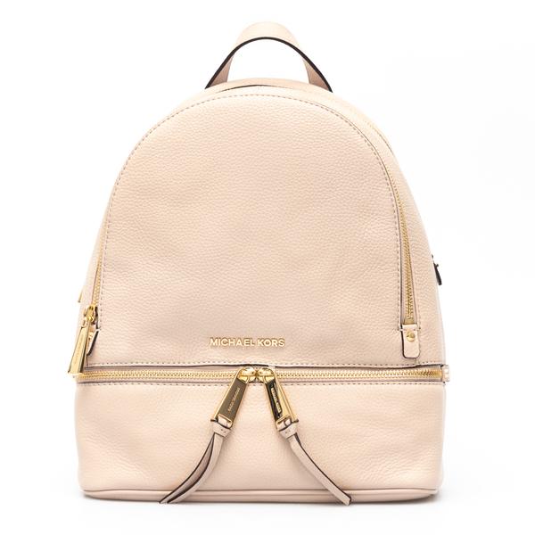 Light pink backpack with gold logo                                                                                                                    Michael Kors 30S5GEZB1L back