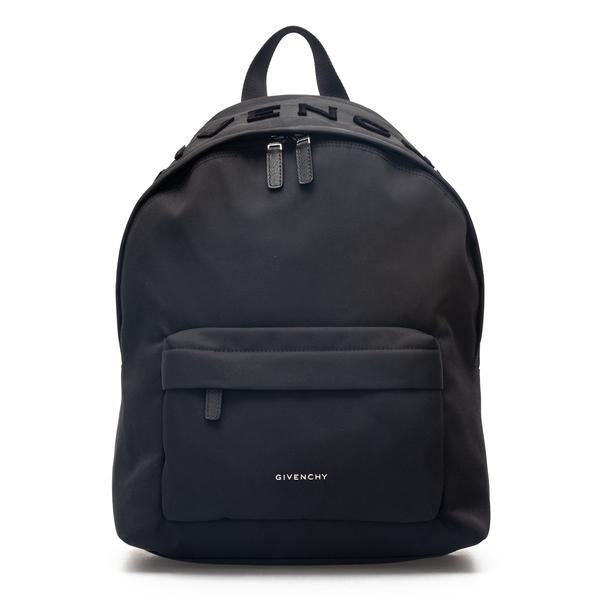 Zaino con logo in velluto liscio                                                                                                                      Givenchy BK508H retro