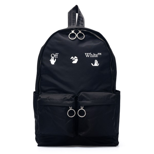 Black backpack with print                                                                                                                             Off white OMNB003R21FAB001 front