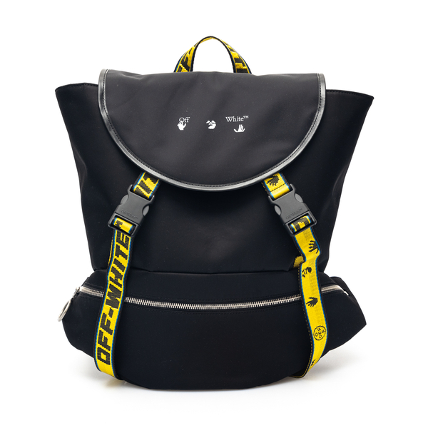 Black backpack with Industrial strap                                                                                                                  Off White OMNB036S21FAB001 back