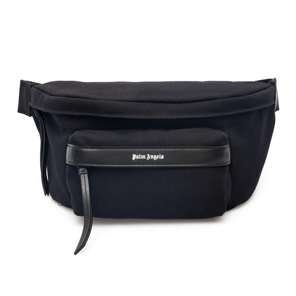 Black belt bag with brand name                                                                                                                        Palm Angels PMNO002F21LEA001 back