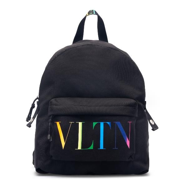 Black backpack with rainbow logo                                                                                                                      Valentino Garavani VY2B0993 back