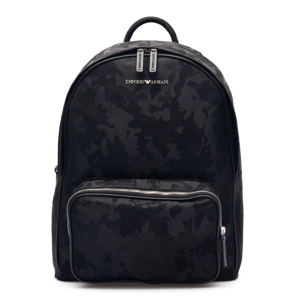 Black backpack with camouflage pattern and lo                                                                                                         Emporio Armani Y4O311 back