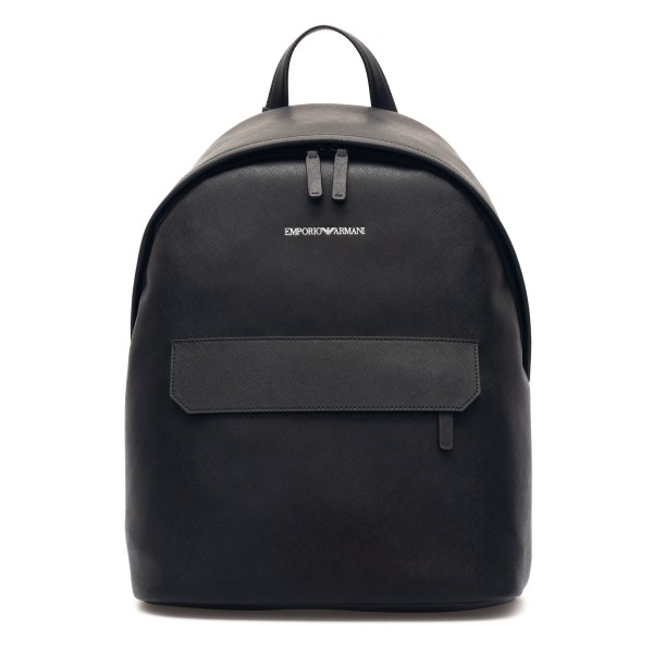 Black backpack with logo print                                                                                                                        Emporio Armani Y4O313 back