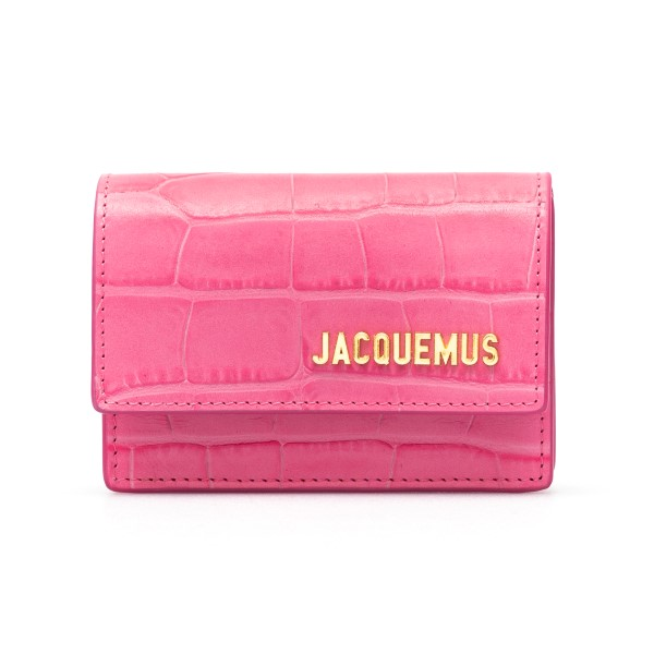 Marsupio mini rosa in pelle con logo                                                                                                                  Jacquemus 211AC16 retro