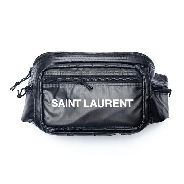 Black belt bag with brand name print                                                                                                                  Saint Laurent 581375 back