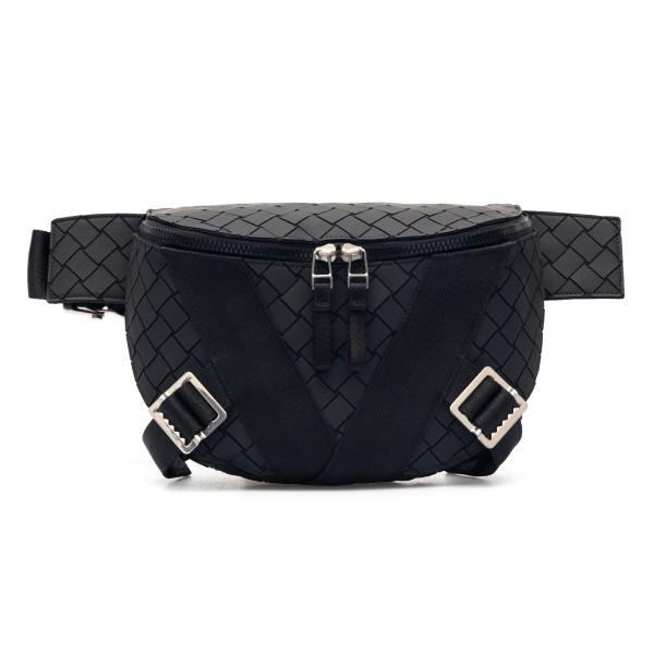 Black belt bag with weaves                                                                                                                            Bottega Veneta 652551 back