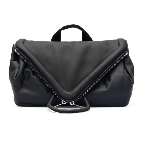 Black pouch with triangular flap                                                                                                                      Bottega Veneta 659419 back
