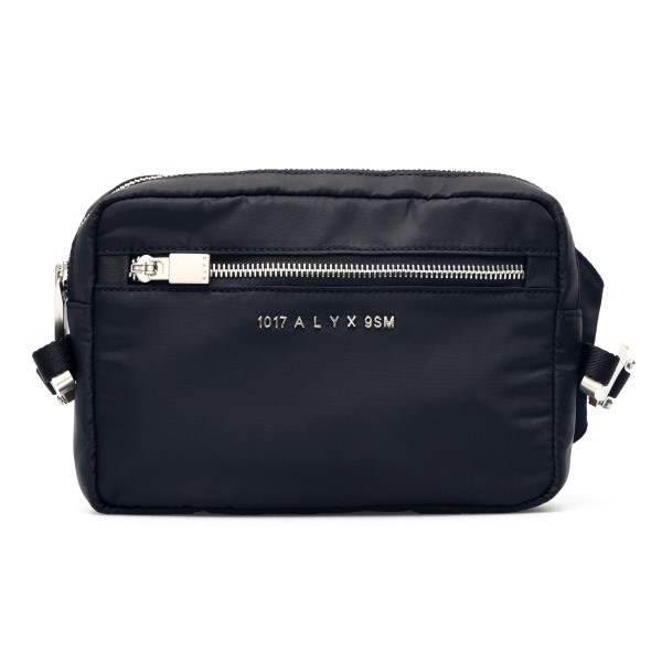 Black belt bag with logo and metal buckle                                                                                                             Alyx AAUBB0012FA04 front