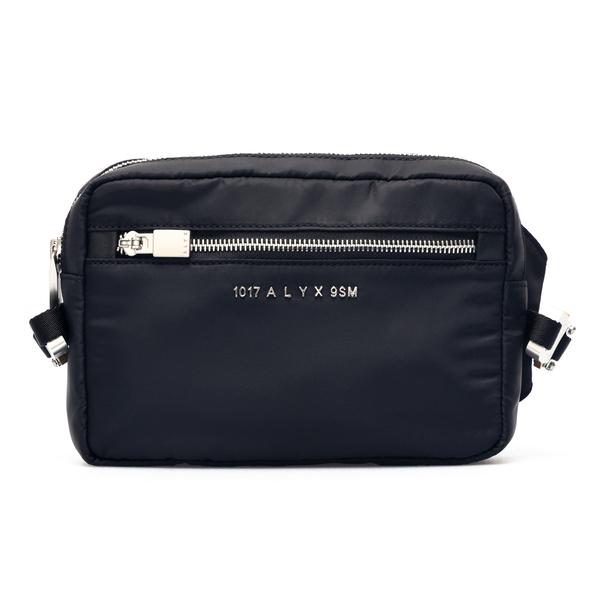 Black belt bag with metallic logo                                                                                                                     Alyx AAUBB0012FA04 back