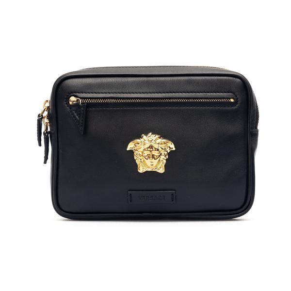 Black leather bum bag with Medusa plaque                                                                                                              Versace DFB8580 back