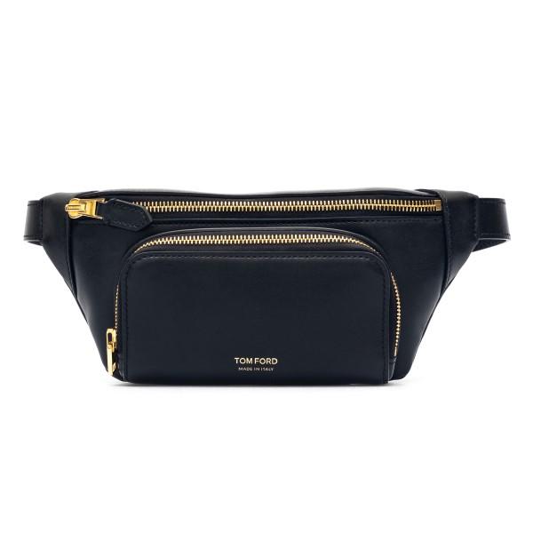 Black belt bag with gold logo print                                                                                                                   Tom Ford H0453T back
