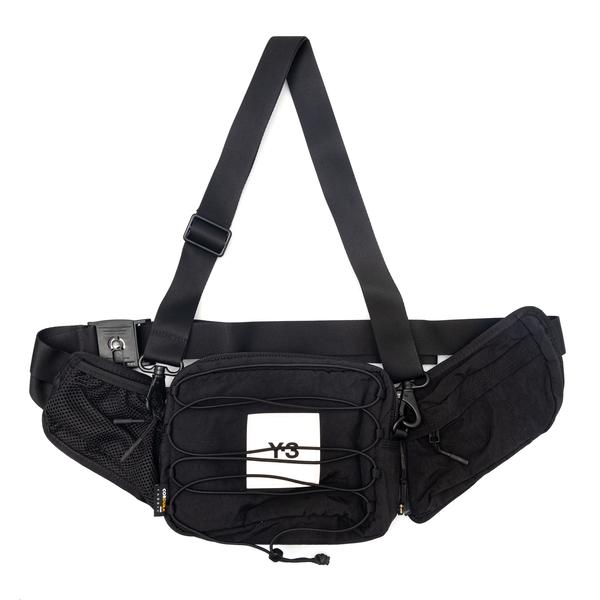 Black belt bag with logo patch                                                                                                                        Y3 HA6518 back