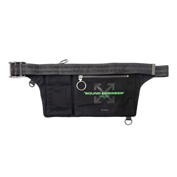 Black belt bag with written print                                                                                                                     Off White OMNO004G21FAB002 back