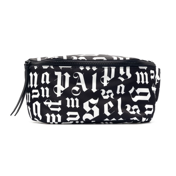Black belt bag with logo print                                                                                                                        Palm angels PMNO001R21FAB001 front