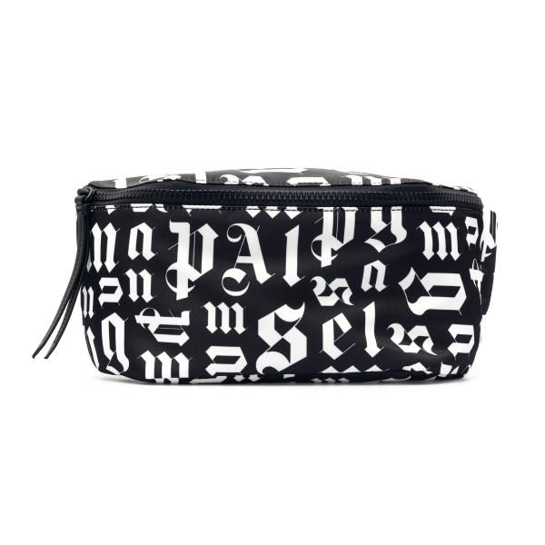 Black belt bag with logo print                                                                                                                        Palm Angels PMNO001R21FAB001 back