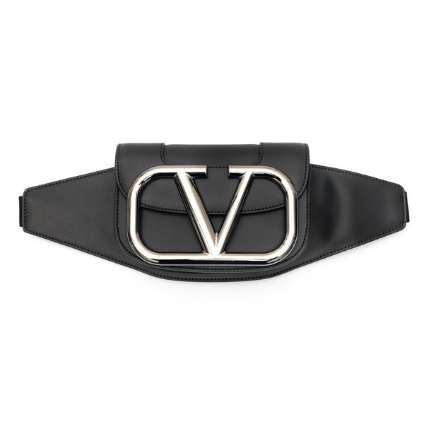 Black belt bag with oversized logo                                                                                                                    Valentino Garavani WY2B0A17 back