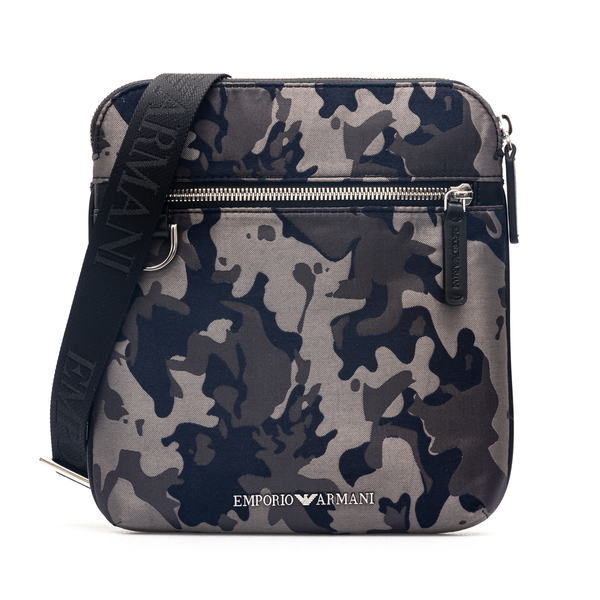 Camouflage messenger bag with brand name                                                                                                              Emporio Armani Y4M185 back