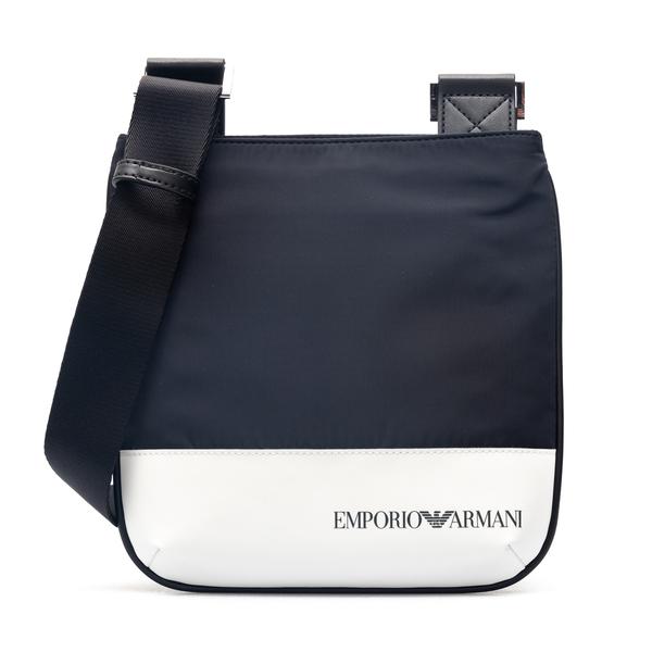 Blue and white messenger bag                                                                                                                          Emporio Armani Y4M234 back
