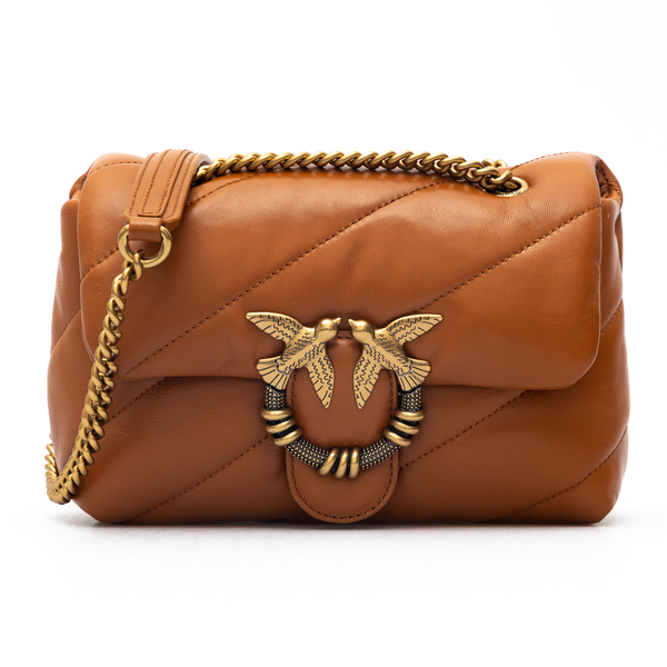 Brown shoulder bag with stitching                                                                                                                     Pinko 1P22B3 back