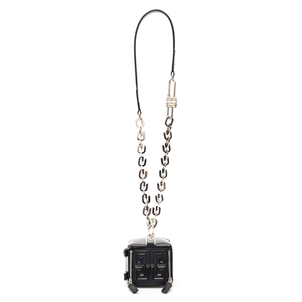 Black cube pouch with logo                                                                                                                            Givenchy BB60FJ back