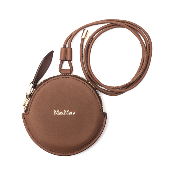 Round brown coin purse with logo                                                                                                                      Max Mara DESTINO back