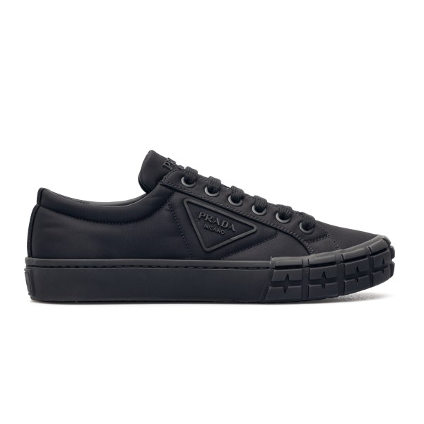 Black sneakers with logo application                                                                                                                  Prada 2EG323 back
