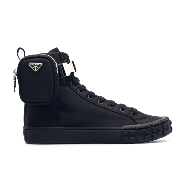 Black sneakers with ankle pouch                                                                                                                       Prada 2TG174 front