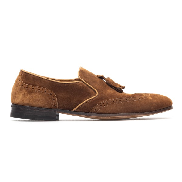 Brown loafers with tassel                                                                                                                             Henderson 71412S0 back