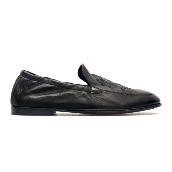 Black loafers with embroidery                                                                                                                         Dolce&gabbana A50434 back