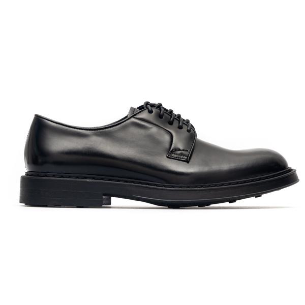 Elegant black leather lace-ups                                                                                                                        Doucal's DU1385 back