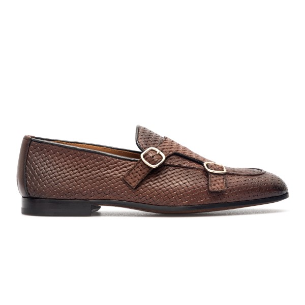 Braided brown leather loafers                                                                                                                         Doucal's DU2363 back