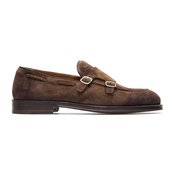 Brown suede loafers with buckles                                                                                                                      Doucal's DU2617 back